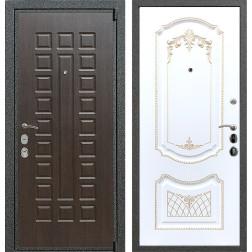 Входная стальная дверь Армада 4А Mottura ФЛ-317 (Венге / Белый патина Золото)