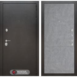Входная металлическая дверь Лабиринт Сильвер 21 (Антик темное серебро / Бетон светлый)