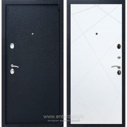 Входная металлическая дверь Армада 3 ФЛ-291 (Черный крокодил / Белый матовый)