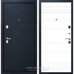 Входная металлическая дверь Армада 3 ФЛ-14 (Черный крокодил / Белый матовый)