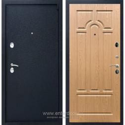 Входная металлическая дверь Армада 3 ФЛ-58 (Черный крокодил / Дуб светлый)