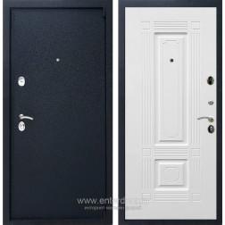 Входная металлическая дверь Армада 3 ФЛ-2 (Черный крокодил / Белый матовый)