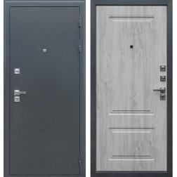 Уличная входная дверь с терморазрывом АСД Север 3К (Букле графит / Сосна белая)