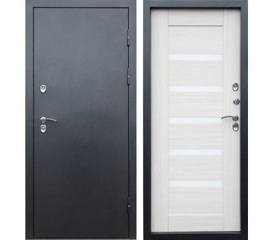 Уличная входная дверь с терморазрывом Армада Термо Сибирь 3К Царга (Серебро антик / Лиственница)