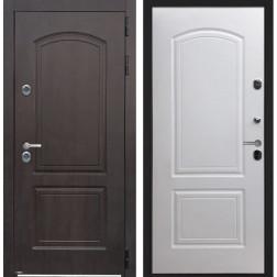 Уличная дверь с терморазрывом Интерма-Страж (Венге черный / Белый)