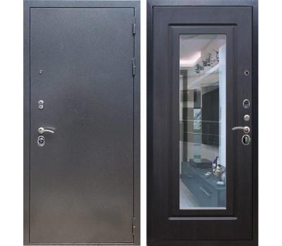 Входная стальная дверь Армада 11 с Зеркалом (Антик серебро / Венге)