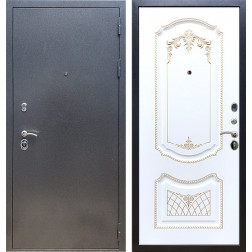 Входная стальная дверь Армада 11 ФЛ-317 (Антик серебро / Белый патина Золото)