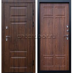 Уличная входная дверь с терморазрывом Армада Термо Сибирь 3К (Орех премиум / Орех)
