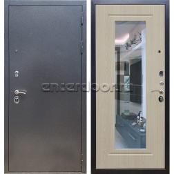 Входная стальная дверь Армада 11 с Зеркалом (Антик серебро / Белёный дуб)