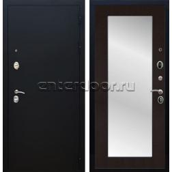 Входная металлическая дверь Армада 5А с Зеркалом Пастораль (Чёрный муар / Венге)