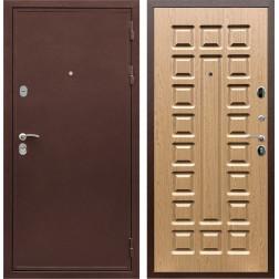 Входная металлическая дверь Армада 5А ФЛ-183 (Медный антик / Дуб светлый)