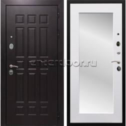 Входная металлическая дверь Армада Сенатор 8 с Зеркалом Пастораль (Венге / Белый матовый)