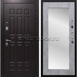 Входная металлическая дверь Армада Сенатор 8 с Зеркалом Пастораль (Венге / Бетон тёмный)