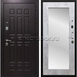 Входная металлическая дверь Армада Сенатор 8 с Зеркалом Пастораль (Венге / Бетон светлый)