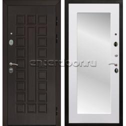 Входная металлическая дверь Армада Сенатор 3К с Зеркалом Пастораль (Венге / Белый матовый)