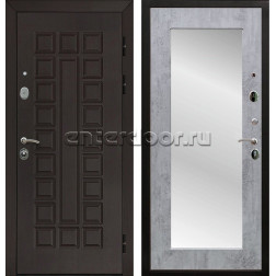 Входная металлическая дверь Армада Сенатор 3К с Зеркалом Пастораль (Венге / Бетон тёмный)