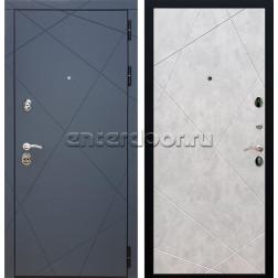 Входная металлическая дверь Армада 13 ФЛ-291 (Графит софт / Бетон светлый)