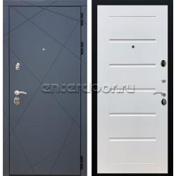 Входная металлическая дверь Армада 13 Сити (Графит софт / Белый ясень)