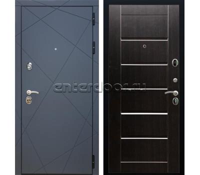 Входная металлическая дверь Армада 13 Сити (Графит софт / Венге)