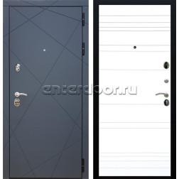 Входная металлическая дверь Армада 13 ФЛ-316 (Графит софт / Белый матовый)