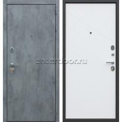 Входная металлическая дверь АСД Дуэт Б (Бетон темный / Белый матовый)