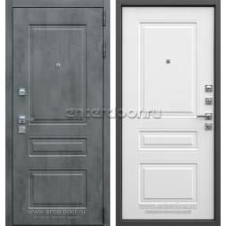 Входная металлическая дверь АСД Лира (Бетон темный / Белый матовый)