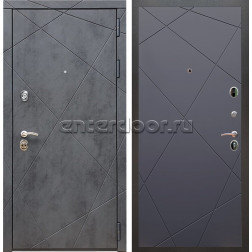 Входная металлическая дверь Армада 13 ФЛ-291 (Бетон тёмный / Графит софт)