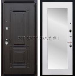 Входная металлическая дверь Армада 9 Викинг с зеркалом Пастораль (Венге / Белый матовый)