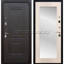 Входная металлическая дверь Армада 9 Викинг с зеркалом Пастораль (Венге / Дуб беленый)