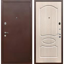Входная дверь Армада 2 ФЛ-128 (Антик медь / Дуб белёный)