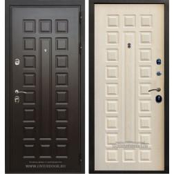 Входная дверь Премиум 3К с цилиндром Cisa (Венге / Дуб беленый)