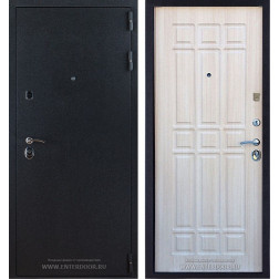 Входная стальная дверь Лайт 3К (Черный Бархат / Дуб беленый)