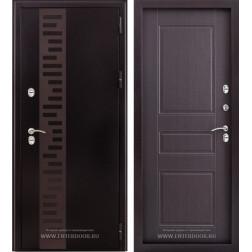 Входная уличная дверь Урал с терморазрывом (Антик медный / Венге)