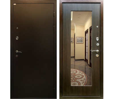 Входная металлическая дверь Ратибор Милан с Зеркалом (ЭкоВенге)