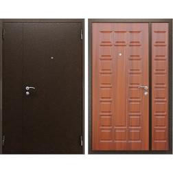 Стальная тамбурная дверь АСД «Двустворчатая New» (Орех итальянский)