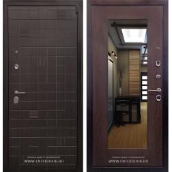 Входная дверь Ратибор Силуэт 3К с зеркалом (ЭкоВенге / Венге капучино)