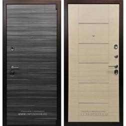 Входная металлическая дверь Ратибор Омега 3К (Сандал серый / Акация)