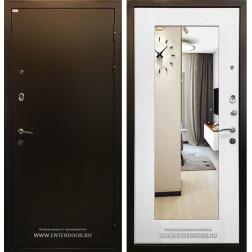 Входная дверь Ратибор Милан с зеркалом (Ясень белый)