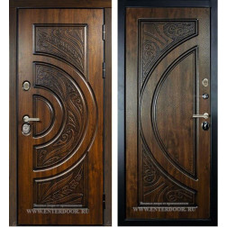 Входная металлическая дверь Сударь Прага (Дуб тёмный Винорит)