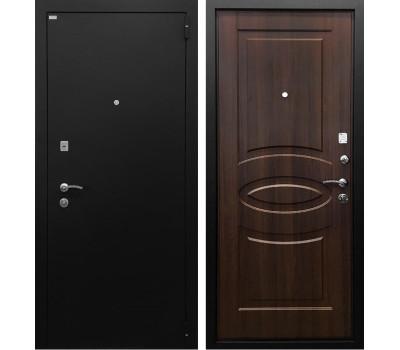 Входная металлическая дверь Ратибор Классик 3К (Чёрное Серебро / Орех бренди)