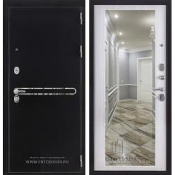 Входная металлическая дверь Президент S1Z с зеркалом (Сандал белый)