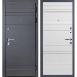 Входная дверь Персона ТехноЛюкс (Графит софт / Белый софт)