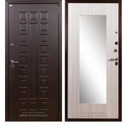 Входная металлическая дверь Лекс Гладиатор Нео 2К Зеркало (Сандал белый)