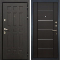 Входная металлическая дверь Лекс 8 Сенатор Венге с Молдингом (панель №24)