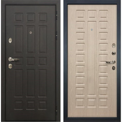 Входная металлическая дверь Лекс 8 Сенатор Белёный дуб (панель №20)