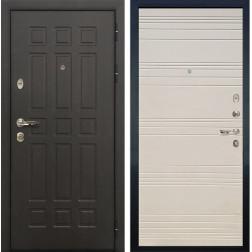 Входная металлическая дверь Лекс 8 Сенатор Дуб фактурный кремовый (панель №63)