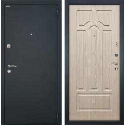 Входная дверь Интекрон Аттика (Шагрень черная / Беленый дуб)