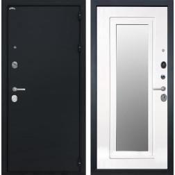 Входная металлическая дверь Интекрон Эллада с зеркалом (Черный шелк / Ясень белый)