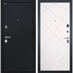 Входная стальная дверь Интекрон Колизей Лучи-М (Чёрный шелк / Софт Милк)