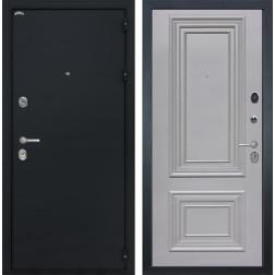 Входная дверь Интекрон Колизей Сан Ремо 2 (Чёрный шелк / Пыльно-серый RAL 7037)